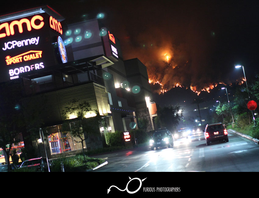 Santa Anita Canyon Brush Fire