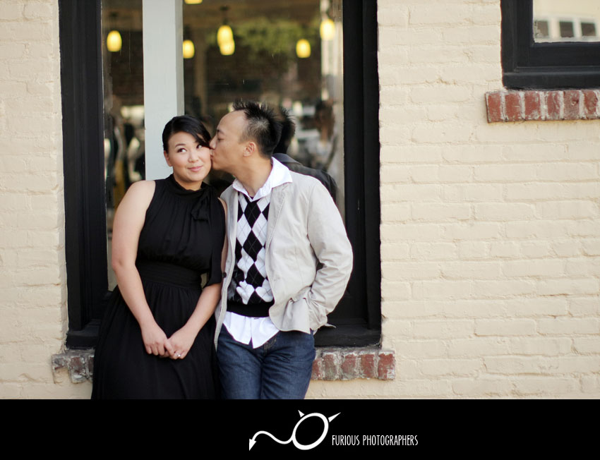 old town pasadena engagement photography