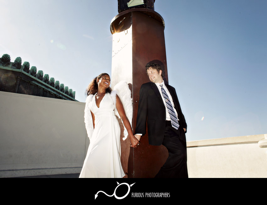 griffith observatory engagement photographs