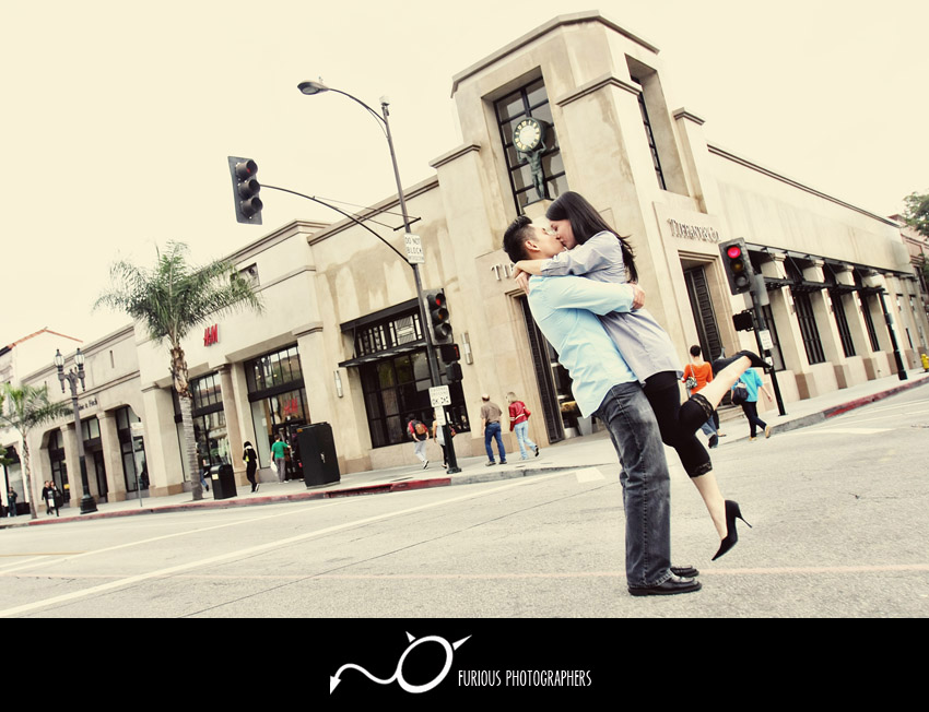 disney concert hall engagement photos
