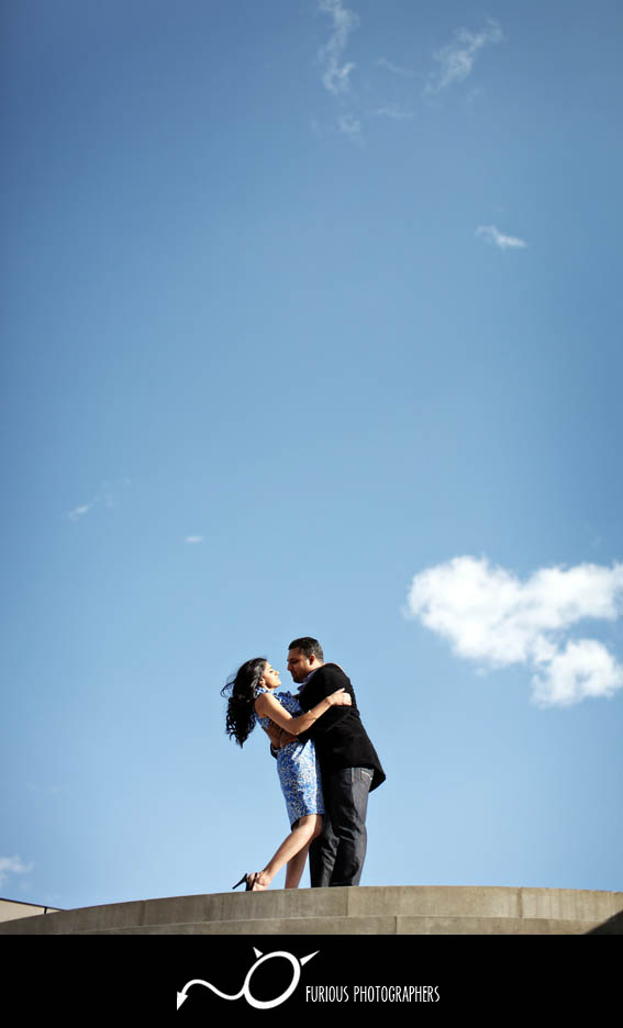 stylish la engagement photography