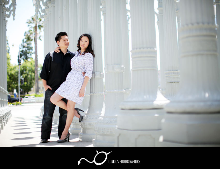 lacma los angeles engagement photos