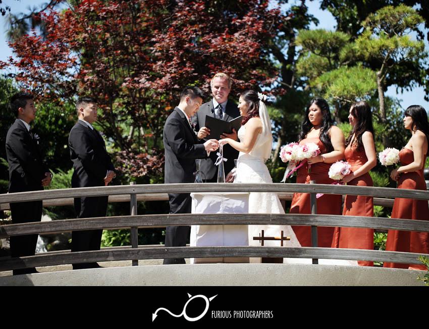 Long beach garden wedding