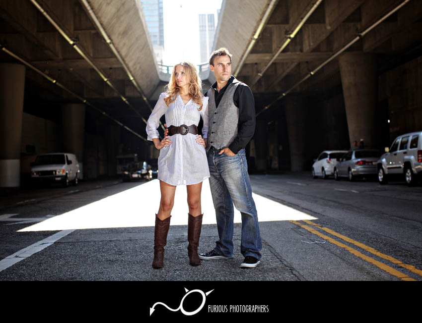 edgy los angeles engagement photos