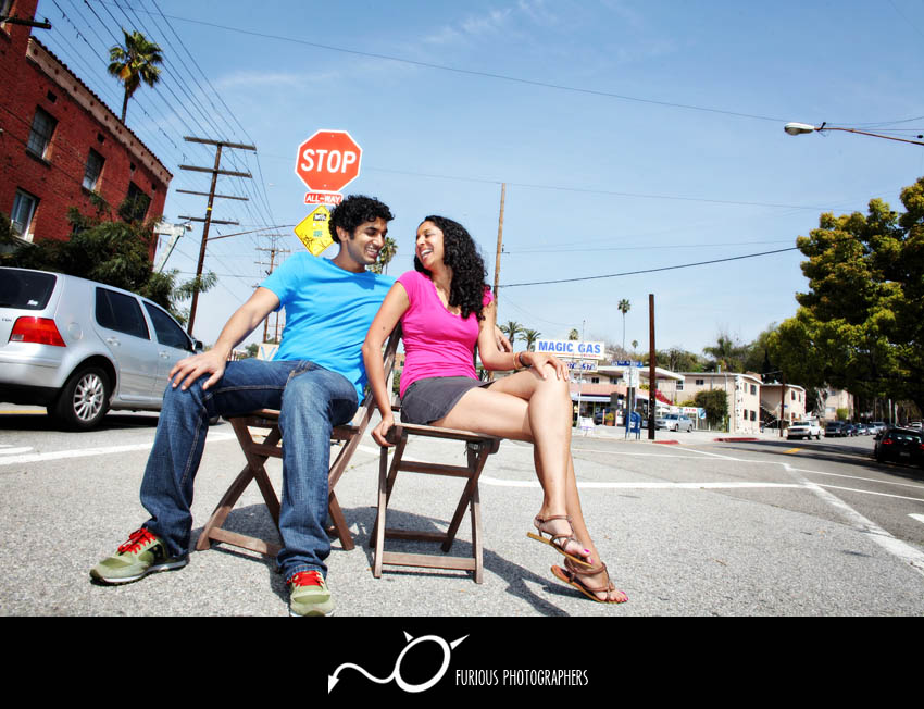 echo park engagement photography