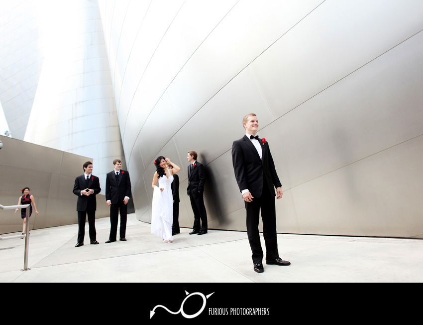 disney concert hall wedding photography