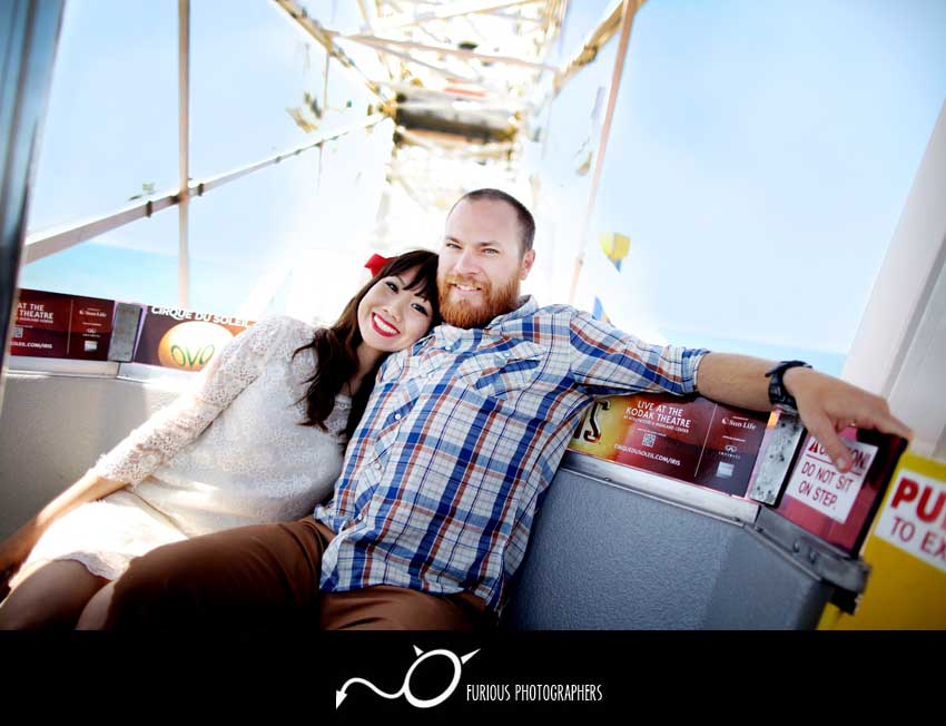engagement photograph santa monica