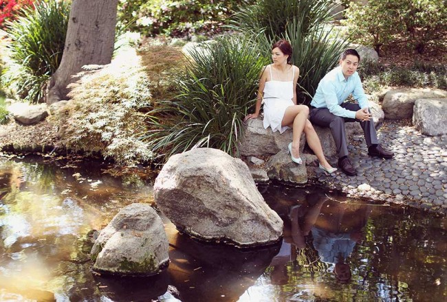 descanso garden engagement photography