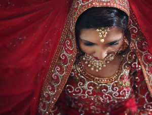 Brides quiet anticipation Details draped over details on her sarihellip